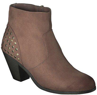 Women's Sam & Libby Lara Studded Heel Ankle Boot - Cognac