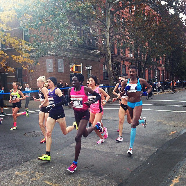 Elite women's runner Edna Kiplagat was a prerace favorite to win.  Source: Instagram user birchbox