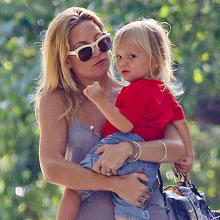 Kate Hudson With Her Son Bingham in Malibu