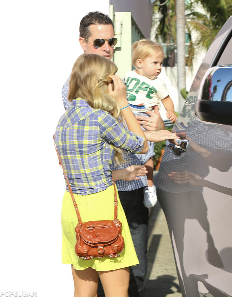 Reese Witherspoon's husband, Jim Toth, loaded son Tennessee and daughter Ava into their car.