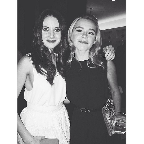 Kiernan Shipka caught up with Alison Brie at the Chloé bash. Source: Instagram user kiernanshipka