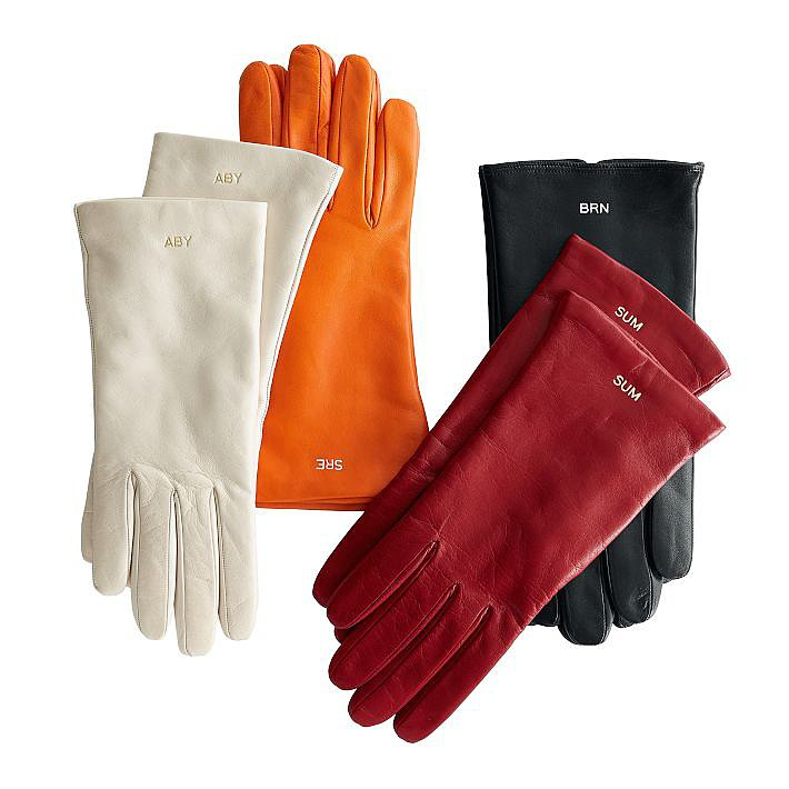 Gloves: you've gotta wear them. Put a classy spin on the seasonal essential with a unique pair from Mark & Graham ($115) just for her.