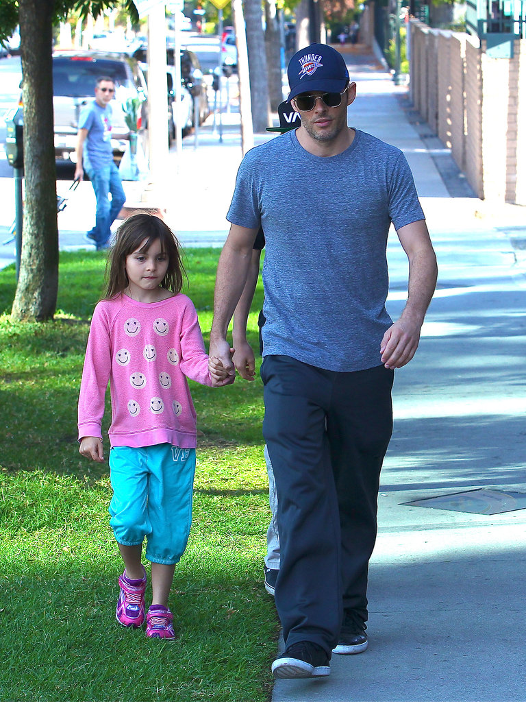James Marsden headed to an LA farmers market on Sunday with his daughter, Mary.
