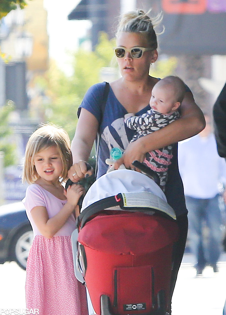 Busy Philipps headed to lunch with her daughters in LA on Saturday.