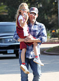 Ben Affleck cheered Violet on during her Sunday basketball game in LA.