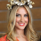 Laura Dundovic With Orange Lips at 2013 Melbourne Cup