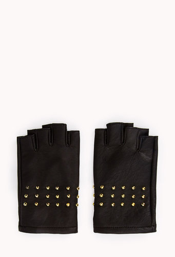 FOREVER 21 Rock'n'Roll Fingerless Gloves