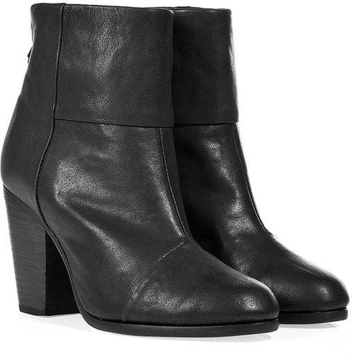 Rag & Bone Leather Classic Newbury Ankle Boots in Black