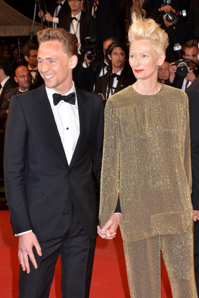 Tom Hiddleston escorted Tilda Swinton down the red carpet.