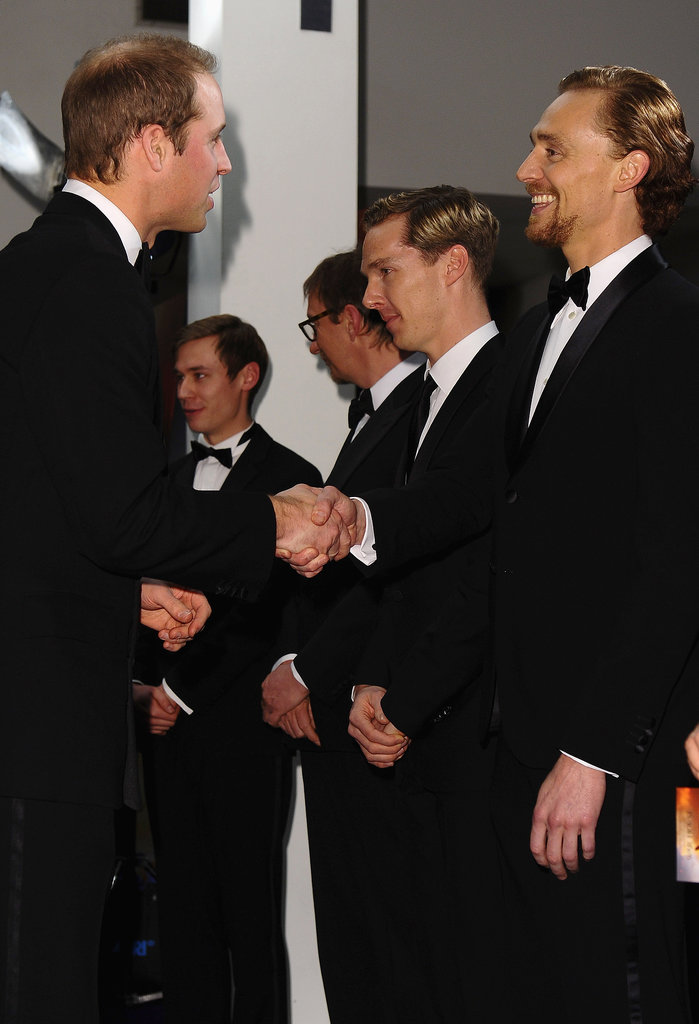 Tom Hiddleston got a warm greeting from Prince William.