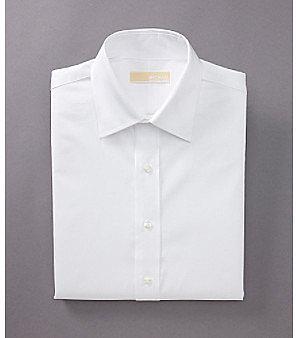 MICHAEL Michael Kors® Men's White Long Sleeve Twill Dress Shirt