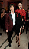 Mick Jagger and L'Wren Scott flattered each other's color palettes at the Harper's Bazaar UK event.