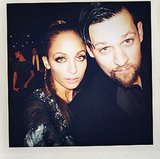 Nicole Richie and Joel Madden got up close and personal for a selfie while partying at the LACMA Art and Film gala. Source: Instagram user nicolerichie