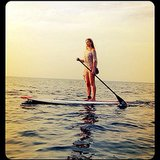 Bar Refaeli did some paddleboarding. Source: Instagram user barrefaeli
