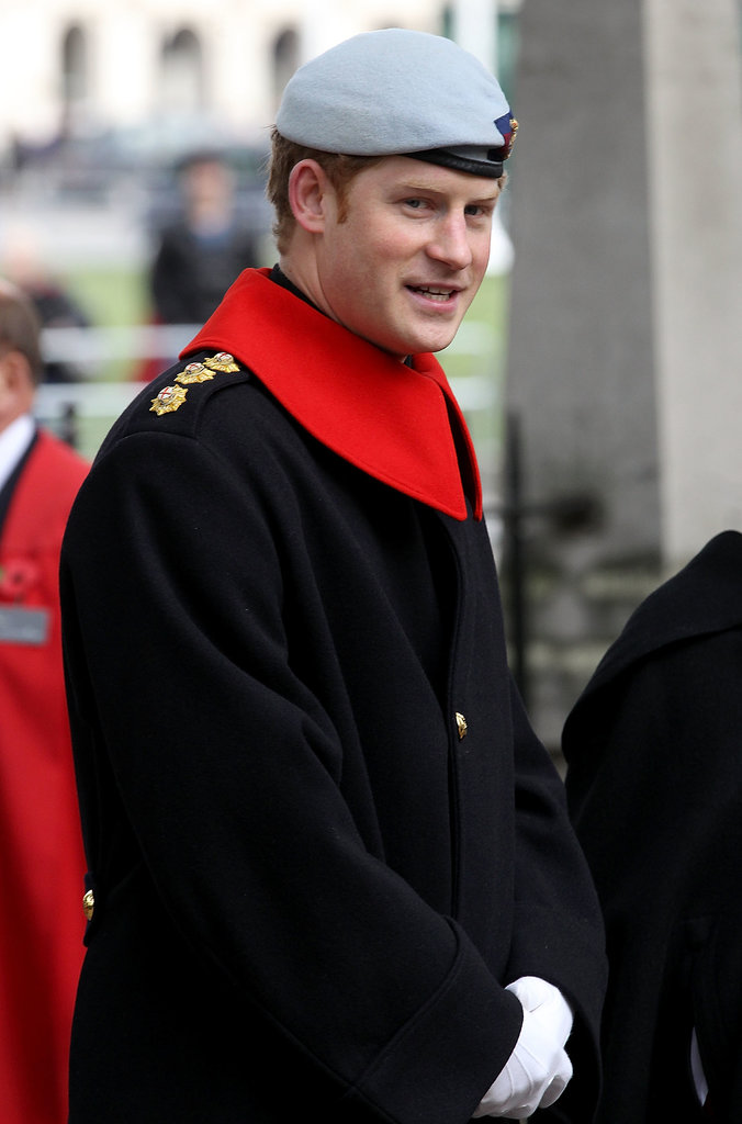 Prince Harry visited the Field of Remembrance at Westminster Abbey.