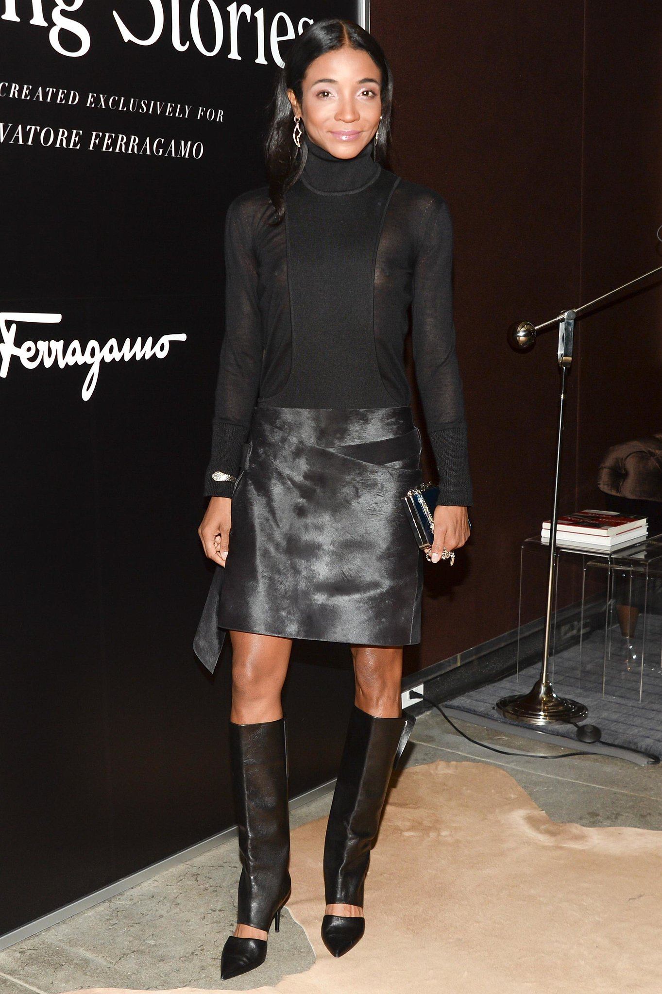 Genevieve Jones screened Walking Stories   in layers of Ferragamo leather.
