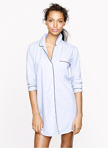 For the classicist, a nightshirt like this one from J.Crew ($68) is the only way to sleep.