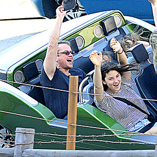 Matt Damon at Disneyland With His Family