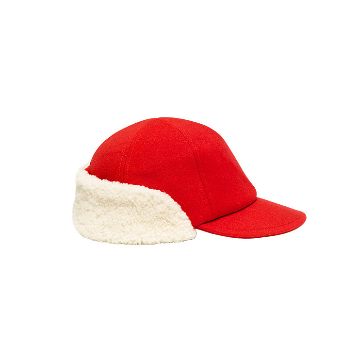 We can hardly think of a cuter cap than this Kate Spade Saturday shearling hunting hat ($75) with the bright pop of red and warm-you-up texture.
