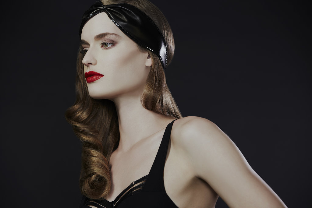 Leather Crystal Stud Turban ($280)