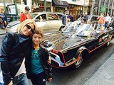 Kelly Ripa and Joaquin Consuelos found the coolest car in town — the Batmobile — on the streets of NYC. Source: Twitter user KellyRipa
