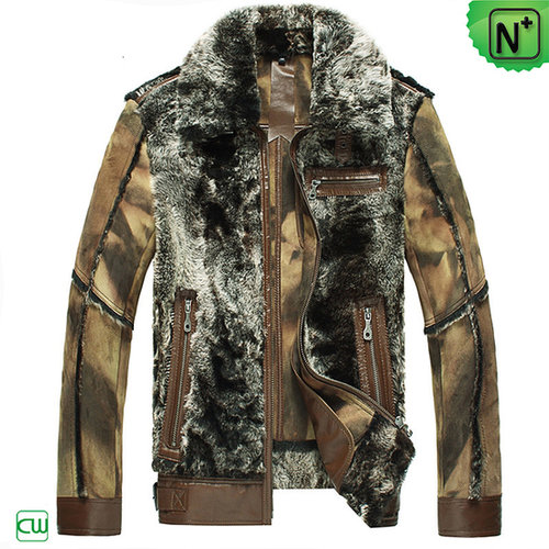 Mens Shearling Lamb Fur Jacket CW868004