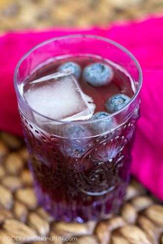 Bottoms Up | Blueberry Vodka Soda