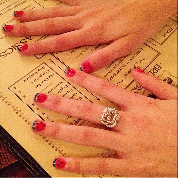 Just because it's Winter doesn't mean you can't have some Summer on your nails. Source: Instagram user thecoveteur