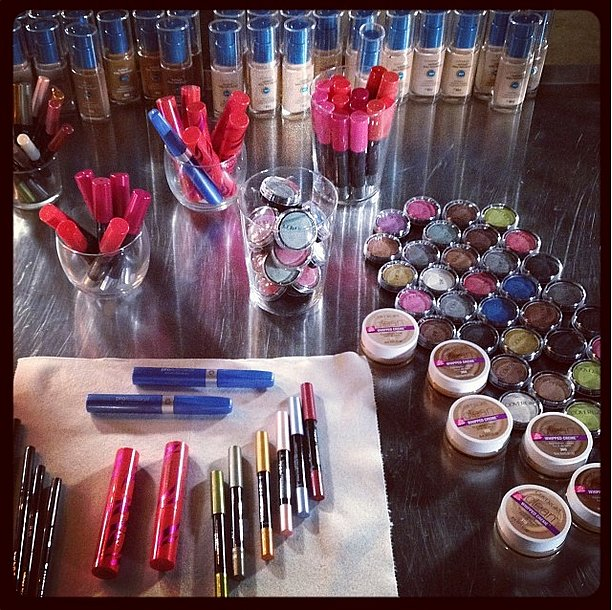 The folks at CoverGirl snapped a shot of the backstage setup on The X Factor. Source: Instagram user covergirl