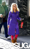 AnnaSophia Robb continued filming the second season of The Carrie Diaries in NYC on Wednesday.