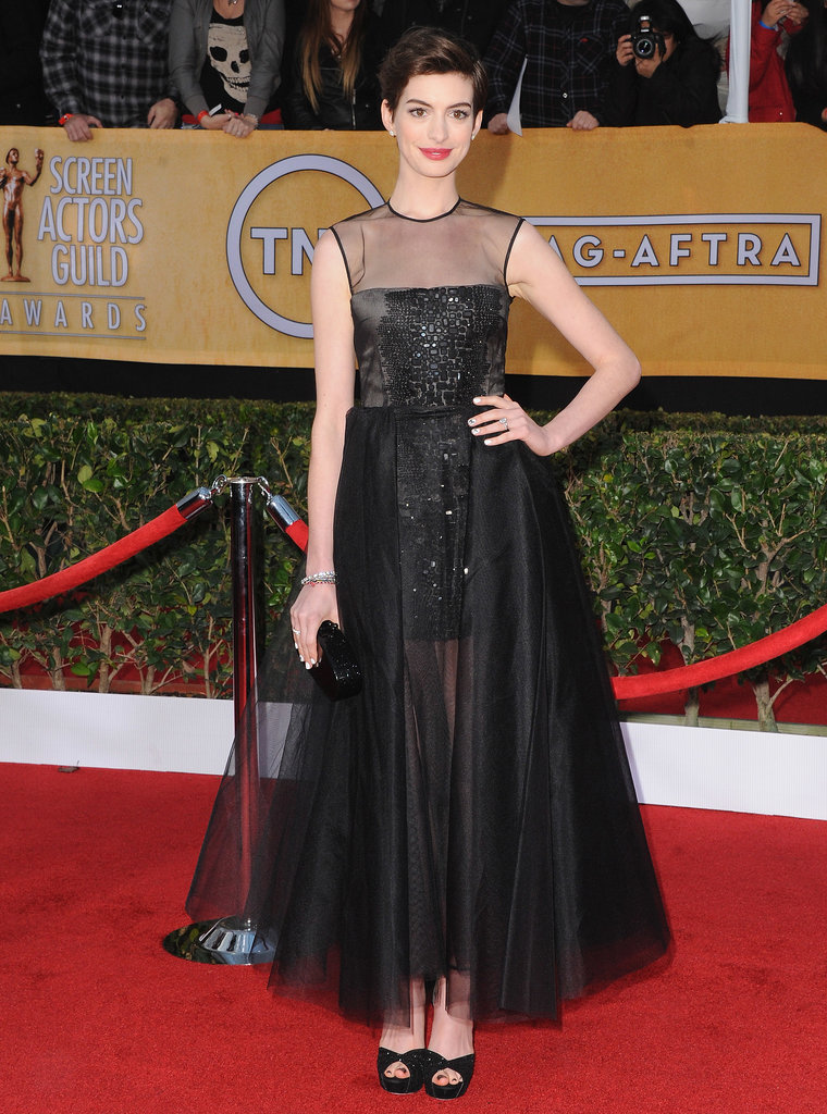 Anne posed in a whimsical straight-off-the-runway Giambattista Valli Haute Couture gown at the 2013 SAG Awards.
