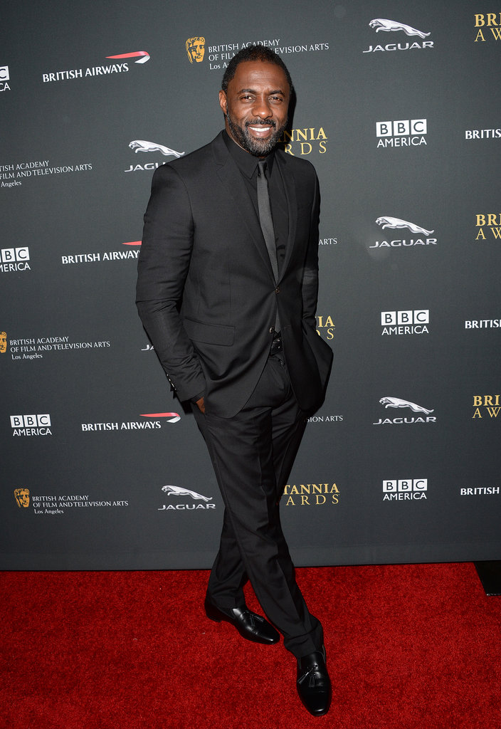 Idris Elba was all smiles at the BAFTA LA Jaguar Britannia Awards.