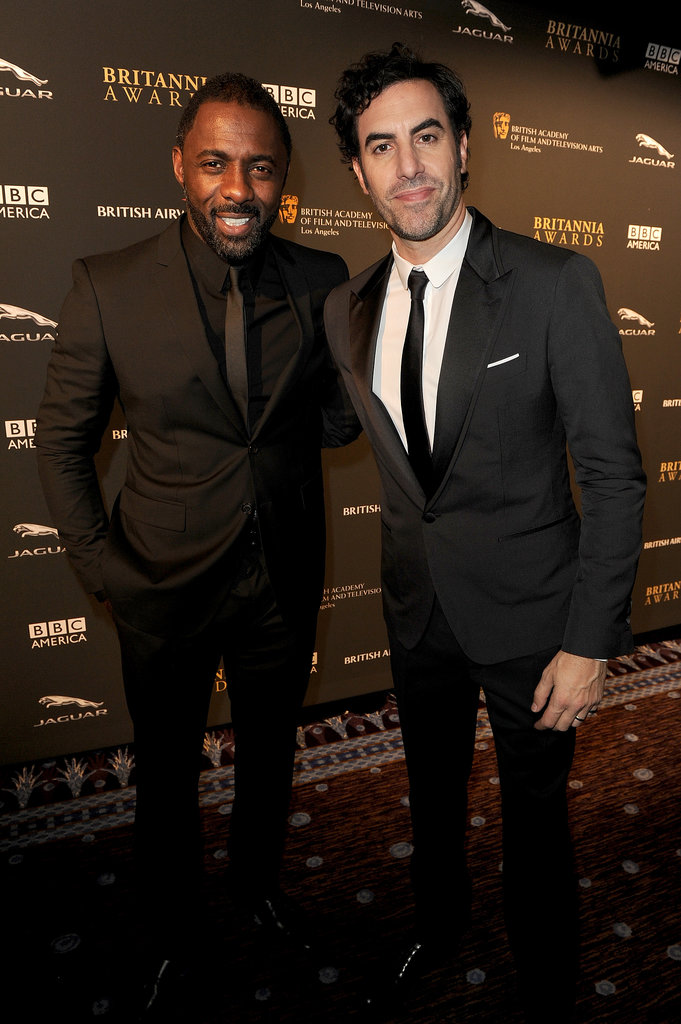 Idris Elba and Sacha Baron Cohen posed for photos together at the BAFTA LA Jaguar Britannia Awards.