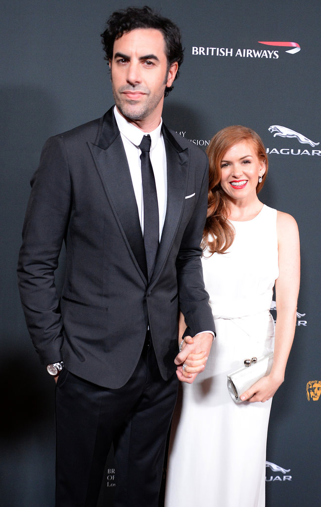 Sacha Baron Cohen and Isla Fisher made a glamorous couple at the BAFTA LA Jaguar Britannia Awards.