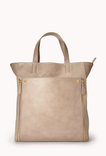 FOREVER 21 City-Chic Faux Leather Tote