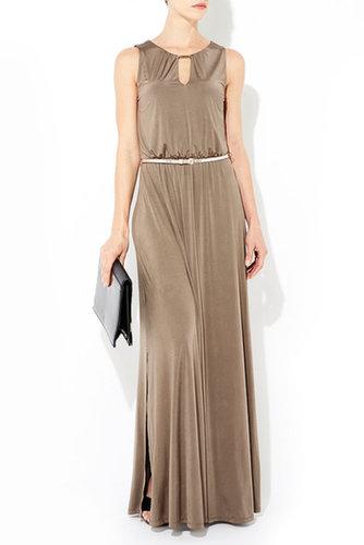 Mocha Belted Maxi Dress