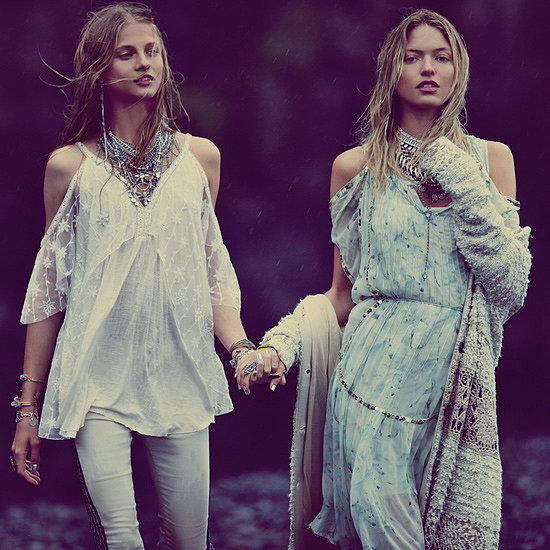 Karlie Kloss, Ajak Deng And Marth Hunt Go Boho For Free People