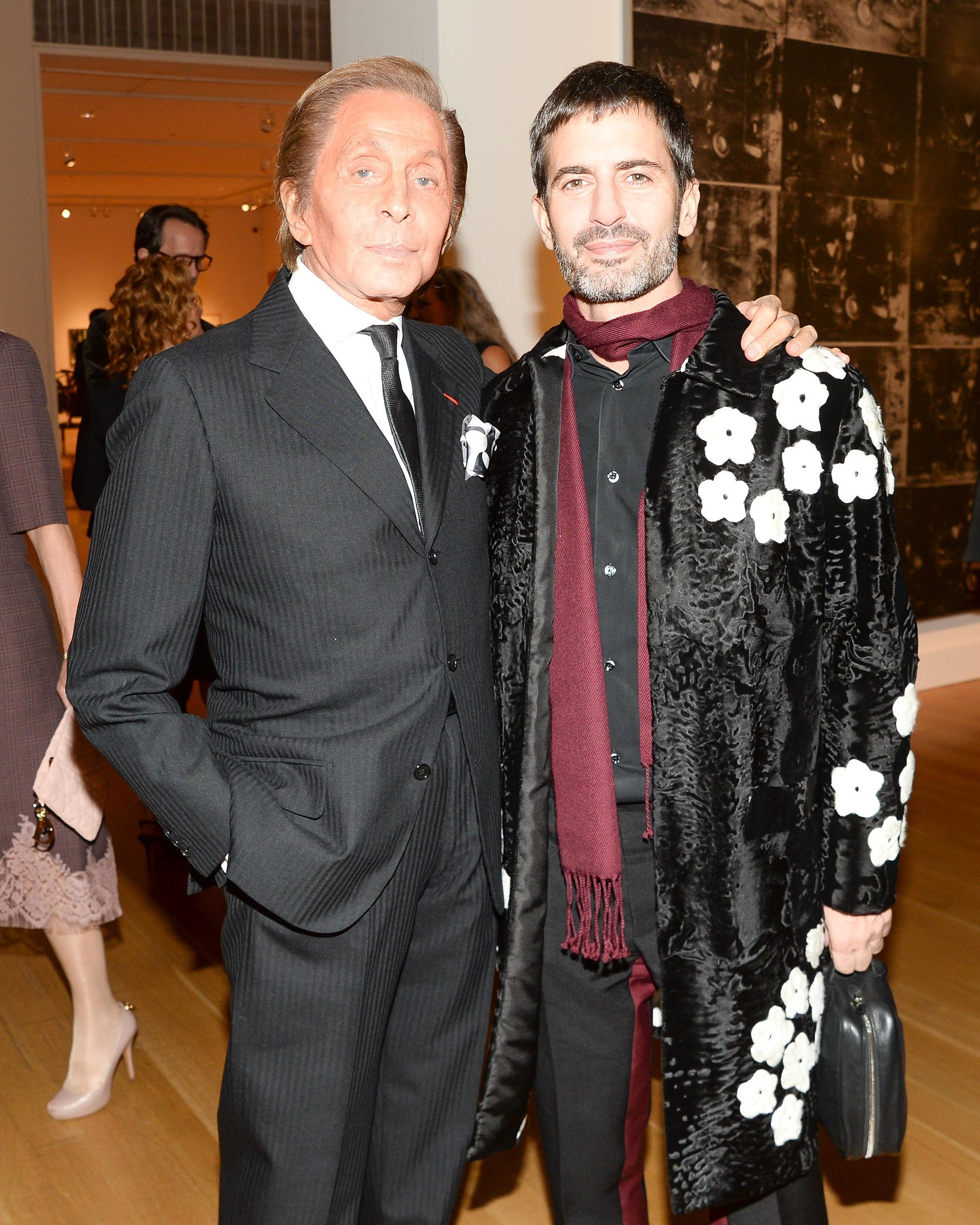 Marc Jacobs and Valentino Garavani at Sotheby's.