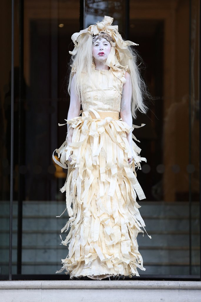 Lady Gaga in Shredded Dress in London in 2013