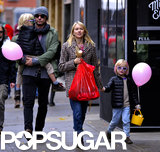 Liev Schreiber and Naomi Watts took their boys, Alex and Samuel, out in NYC's East Village on Sunday.