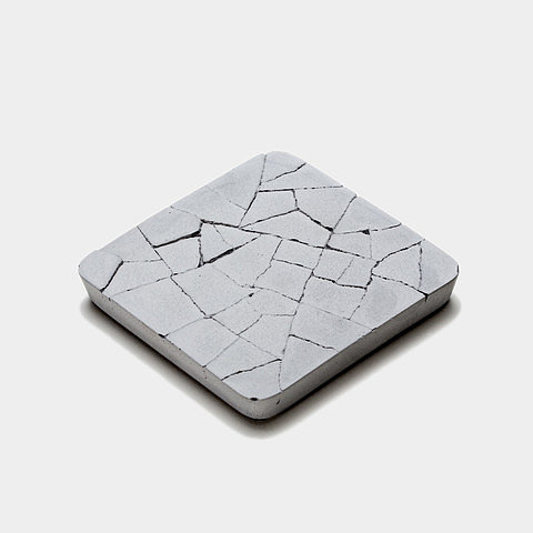 Cracked-Concrete Coaster