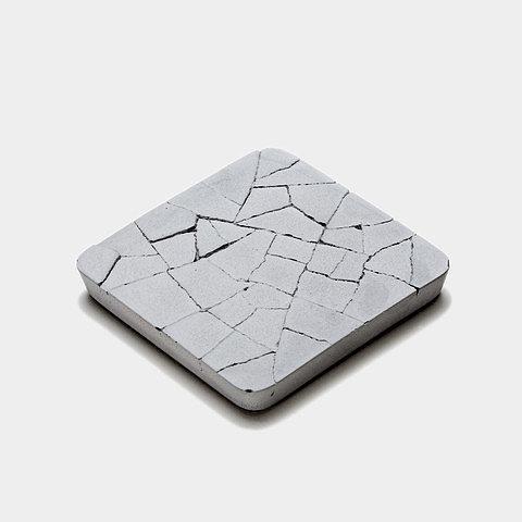 Cracked-Concrete Coaster