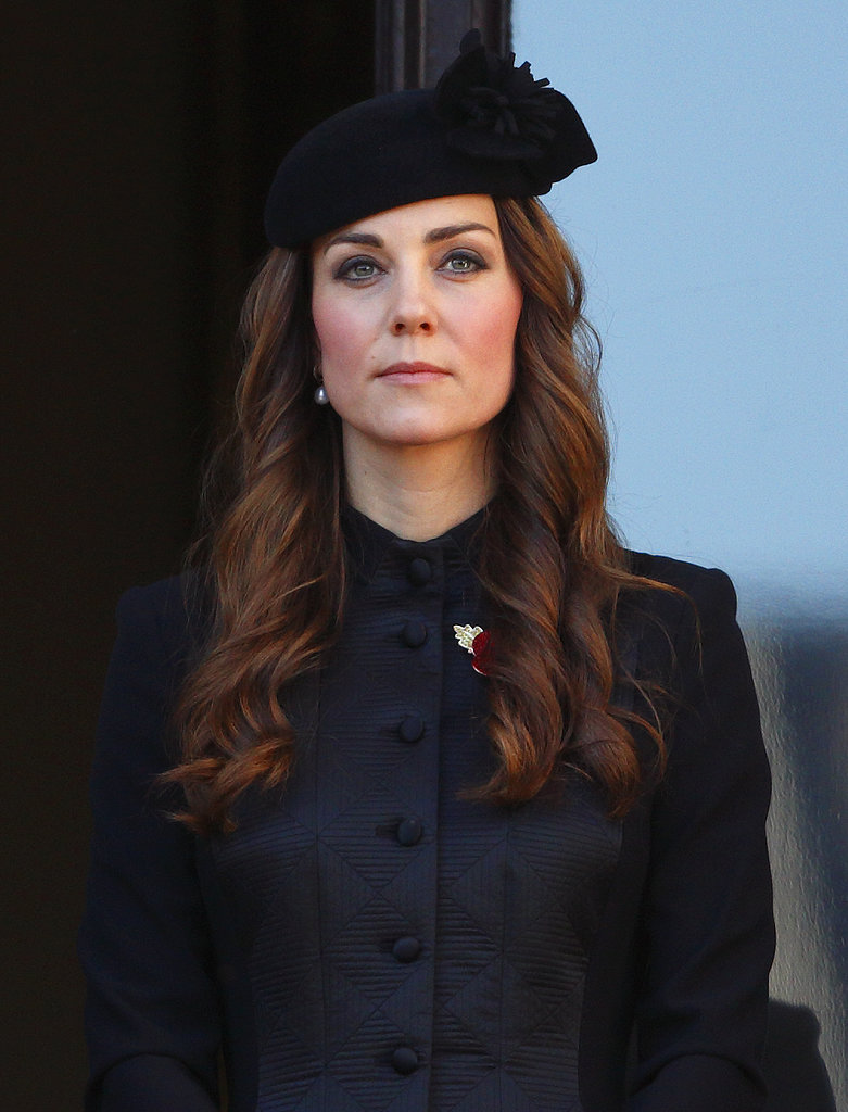 The Duchess of Cambridge made a royal appearance at the annual Remembrance Sunday Service in London.