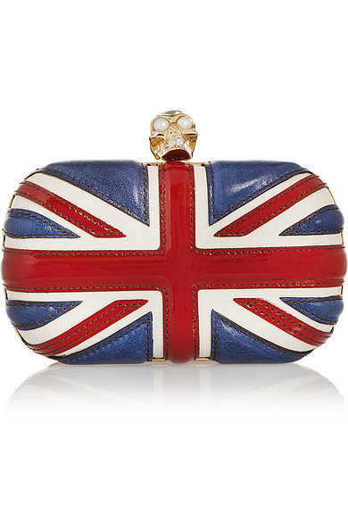 Alexander McQueen union jack clutch ($1,695)This will help you get into an Anglophile mood with one of Kate Middleton's favorite designers.