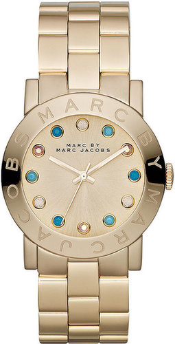 Marc by Marc Jacobs Watch, Women's Amy Gold-Tone Stainless Steel Bracelet 37mm MBM3215