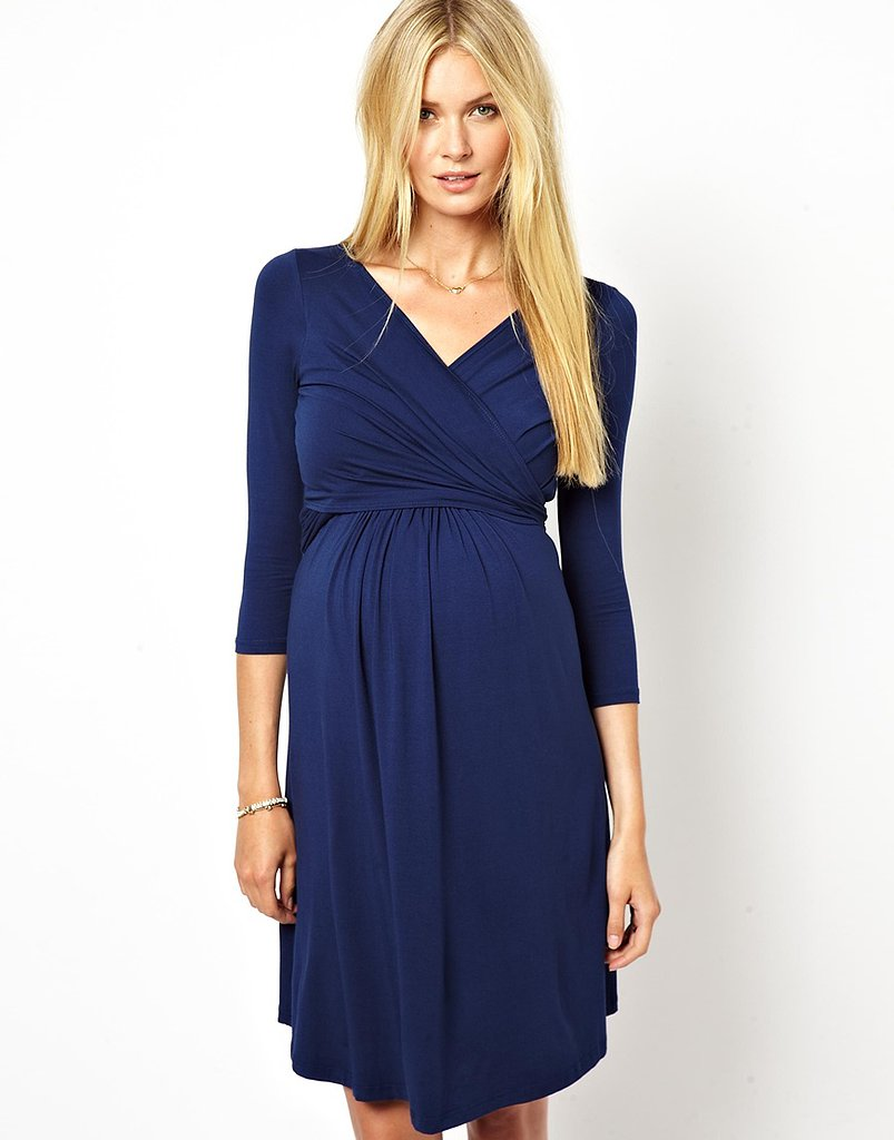 For the Main Event: Isabella Oliver Wrap-Front Jersey Dress