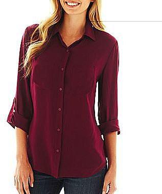 a.n.a® Long-Sleeve 2-Pocket Shirt