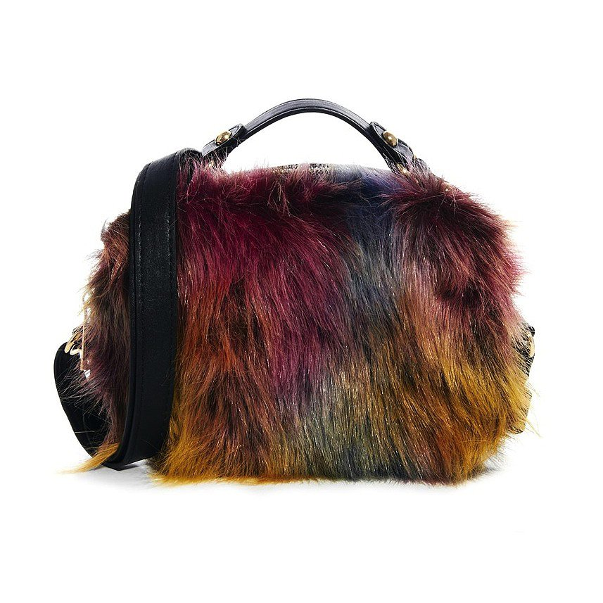 ASOS Tophandle Bag in Crazy Faux Fur ($50, originally $62)