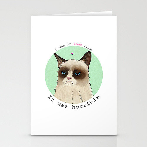 Grumpy Cat Love Stationery Cards ($12 for three)