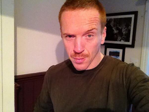 Homeland's Damian Lewis showed off his Movember 'stache. Source: Twitter user lewis_damian